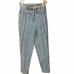 Vintage 80s Mom High waist Smocked Jeans 30 waist